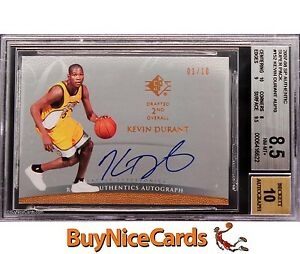 2007-08 Kevin Durant SP Authentic Super Pack Retails RC Rooke Auto /10 BGS 8.5 /