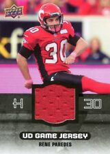 2014 Upper Deck CFL Game Jersey--RENE PARADES--CALGARY STAMPEDERS