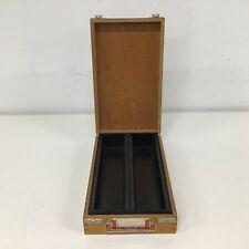 Vtg Wooden Projector Slide Storage Box For 100 Slides #454