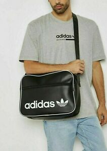 Adidas AIRLINER AC CL School Shoulder Bag Messenger Vintage Black Handbag DH1002
