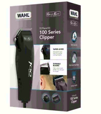 Wahl Mens Hair Clippers 100 Series GroomEase Corded Shaver Trimmer Kit 10 Pc Set