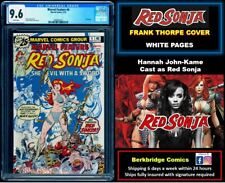 🔥 MARVEL FEATURE RED SONJA 4 CGC 9.6 WHITE PAGES 🔥 $1 SHIP W  CONAN 23 or 24