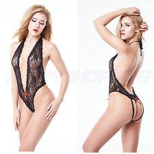 Women Sexy/Sissy Lingerie Babydoll G-String Lace Thong Underwear Nightwear S-XXL