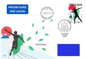 Estonia 2021 (11) Summer Olympic Games - Tokyo 2020 / 2021 (fdc)