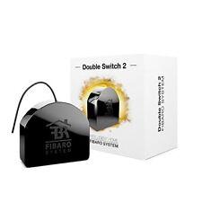 Fibaro FGS-223 2 x 1.5 kW Double Switch 2, Black