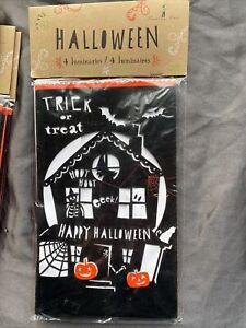 Meri Meri Pack Of 4 Halloween Luminaries/decorations - Outdoor Use Only -952