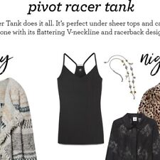 NWT Pivot Racer Tank cami, Size Medium, black, Style #3814
