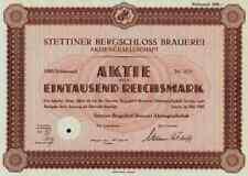 Stettiner Bergschlo? Brauerei 1942 Stettin Szczecin Swinemünde Züllchow Pommern
