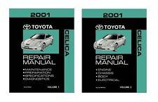 2001 Toyota Celica Shop Service Repair Manual Book Engine Drivetrain OEM