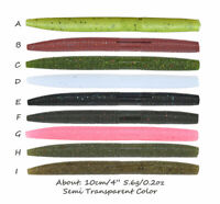 """4"""" SENKO Soft Bass Fishing Lures 5.6g Silicone Fish Baits Earth Worms Stickbaits"""