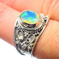 Ethiopian Opal 925 Sterling Silver Ring Size 8.5 Ana Co Jewelry R39749F
