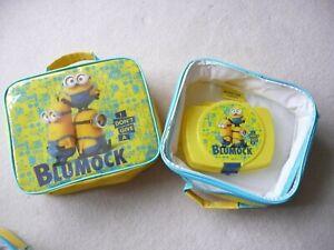 MINIONS LUNCH BAG SANDWICH BOX CASE YELLOW DESPICABLE ME BOB KEVIN STUART GIFT