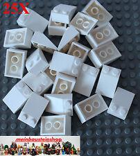 25X Lego® 3298 Basic Dachsteine, Slope, Roof Tile, 25° 2X3 Weiß White NEU