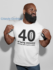 Funny 40th Birthday Gift for Men 40 Years of being Awesome T-Shirt