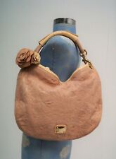 Authentic Jimmy Choo Pale Pink & Cream Leather Snakeskin Sky Hobo Bag & Bangle