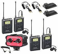 Saramonic Dual Wireless UHF Lavalier Microphone Bundle with 2 Transmitters