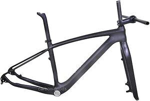 """29er Full Carbon Frame Fork Stem Seatpost UD Matt MTB mountain bike 19"""" L"""