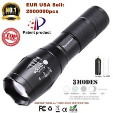 T6 Tactical Military LED Flashlight Torch 50000LM Zoomable 3-Mode Handhled Light
