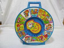 Mattel See 'n Say Mother Goose says 1983 Nursery Rhymes vintage toy blue handle