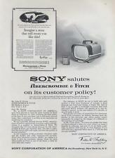 1962 Sony PRINT AD Salutes Abercrombie & Fitch on customer service policy