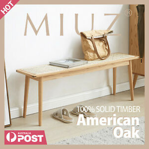 MIUZ Dining Bench Solid Timber American White Oak Wood Kitchen Entryway Bedroom