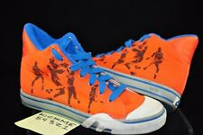 USED 1987 NIKE HOOP NEW YORK SIZE 5.5 RARE BLUE ORANGE GS YOUTH BG DUNK SKY HIGH