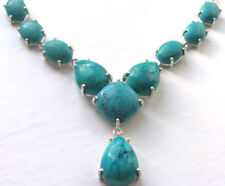Statement Turquoise Necklace set in Sterling Silver