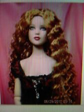 New Red crimped wavy long hair wig size 5/6 fits Cami, Antoinette,  Sybarite