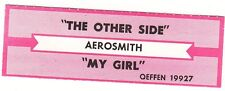 Juke Box Strip Aerosmith - The Other Side / My Girl