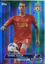 Premier Gold Soccer 13/14 Green Parallel Base Card [/99] #144 Daniel Agger