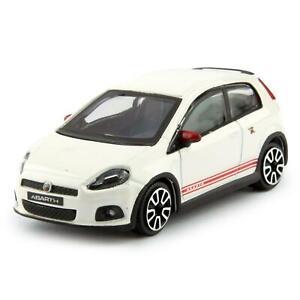 Fiat Abarth Grande Punto 2014 white - Bburago 1:43 Scale Diecast Toy Car