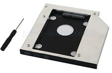 2nd SATA Hard Drive HDD SSD Caddy Adapter for Lenovo IdeaPad Z500 Swap GU70N DVD