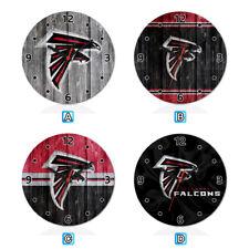 Atlanta Falcons Football Wood Wall Clock Home Office Room Decor Gift Round