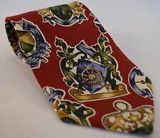 Hugo Boss Multicolor Anchor & Schooner Print Classic Neck Tie Made In Italy