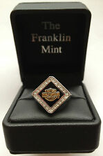 Harley-Davidson Ladies Forever Diamond Ring by Franklin Mint D4J8579 SZ 7