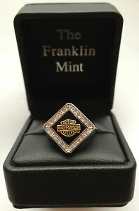 Harley-Davidson Ladies Forever Diamond Ring by Franklin Mint D4J8579 SZ 7