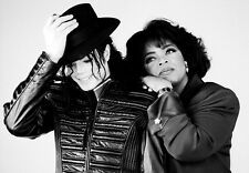 Famous Pop Star Micheal Jackson Oprah Winfrey   Poster