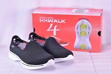Women's Skechers Go Walk 4- Majestic Slip On Shoes, Black / White, 6.5