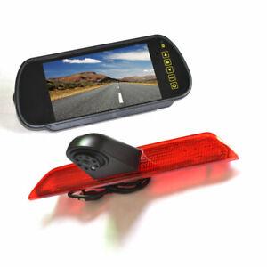 Brake Light Reverse Backup Camera+Rear View Mirror Monitor for Ford Transit Van