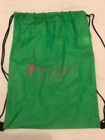GREEN DRAWSTRING BACKPACK SCHOOL GYM DANCE BAG - THE STUDIO @ SUMMERDALE