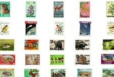 A MIX OF 25 DIFFERENT GOOD/FINE USED COMMEMORATIVE STAMPS FROM MALAWI