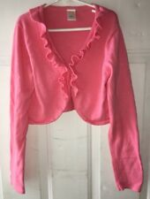 Gymboree Picnic Party Girls 10 12 Pink Ruffled Dressy Cropped Cardigan Sweater