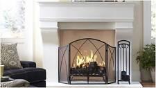 Firescreen 'CHALEUR PROMINENT' Wrought Iron Spiral Arch FIRE SCREEN GUARD SHIELD
