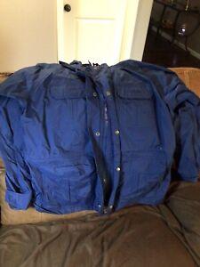 CABELA'S - MEN'S XL - Blue 100% NYLON FUL ZIP HOODED GORE-TEX GUIDEWEAR JACKET