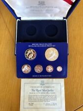 1977 British Virgin Islands Royal Silver Jubilee Proof Set 6 Coins with COA