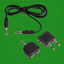 3.5mm Audio Adaptor Set Stereo Audio Jack AUX Cable, PC TV HIFI, Splitter, Plane