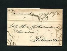 """Österreich - """"Pesth"""" und """"Recom"""" auf kompl. Brief mit vollem Inhalt 1845 (#2456)"""