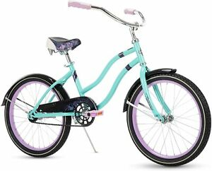 """Huffy Fairmont 20"""" Girl's Cruiser Bike - Quick Connect Assembly - Teal"""