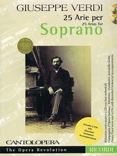 Verdi: 25 Arias for Soprano Cantolopera Collection Vocal Collection 050499557