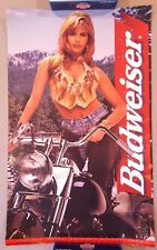 Vintage Beer Poster Advertising Ad Bud Budweiser Sturgis 1996 33 x 20 Inches k